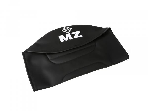 Seat cover structured, black with MZ lettering - for MZ ETZ250