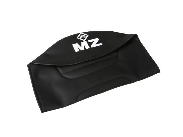 Sitzbezug strukturiert, schwarz mit MZ-Schriftzug - für MZ ETZ250