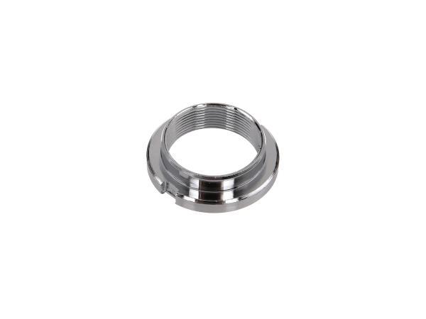 locknut steering bearing, chrome plated with 2 grooves - Simson SR1, SR2, KR50, KR51 Schwalbe, SR4-1 Spatz, SR4-2 Star, SR4-3 Sperber, SR4-4 Habicht