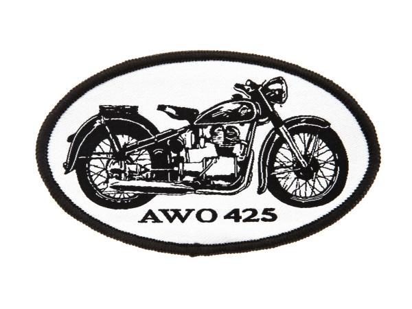 """Patch, Aufnäher """"AWO 425"""" schwarz/weiß"""