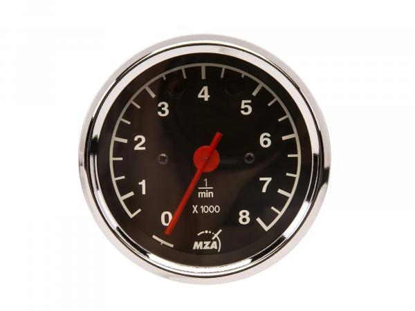Rev counter Ø80mm, indicator lights RED + YELLOW - MZ ETZ