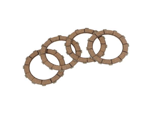 10069229 Set: 4x Kupplungsreibbelag auf Stahlkörper - Simson Duo, KR51/K-Automatikmotor - Bild 1
