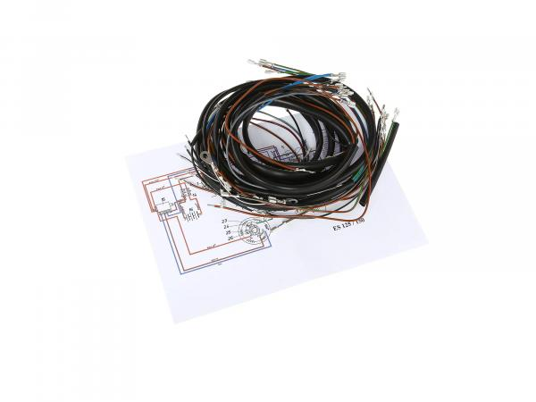 Cable harness set for ES 125,150 plug contacts