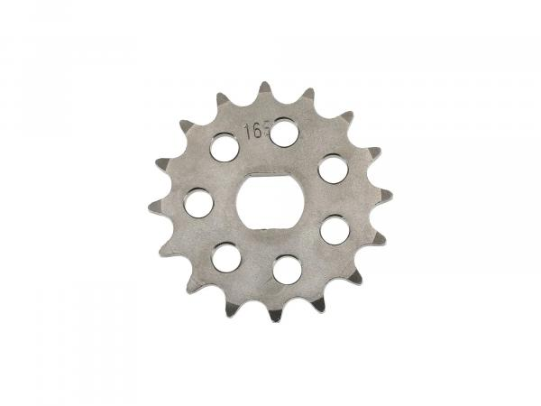 sprocket RESO, small sprocket, tuning 16 teeth - for Simson S51, S70, S53, S83, KR51/2 Schwalbe, SR50, SR80