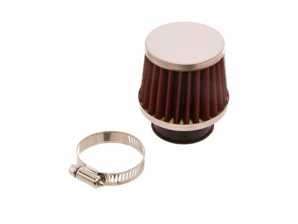 Sport air filter in red black / chrome
