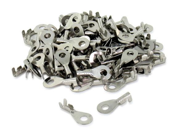 Kabelschuh - SET 100 Stück  Ringform ø 6 mm - Kabelschuh für Kabel 0,75-1,5 Ringöse unisoliert