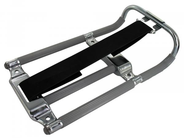 Luggage Carrier KR, grey/chrome with rubber (old version)