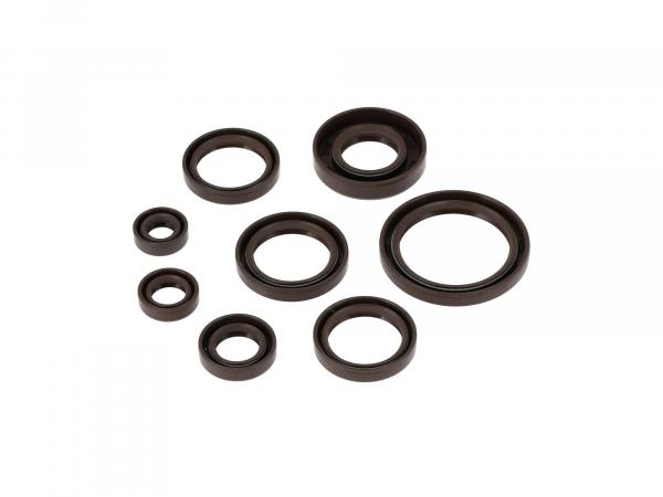 Set: Oil seals, 8 pieces, brown, double lip - AWO 425 Sport