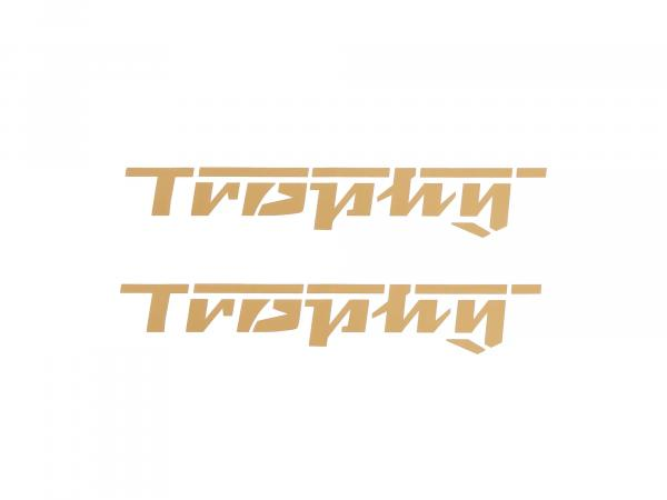 Lettering (foil) Trophy letters in gold (set=2 pieces) (approx. 17.50cm long)