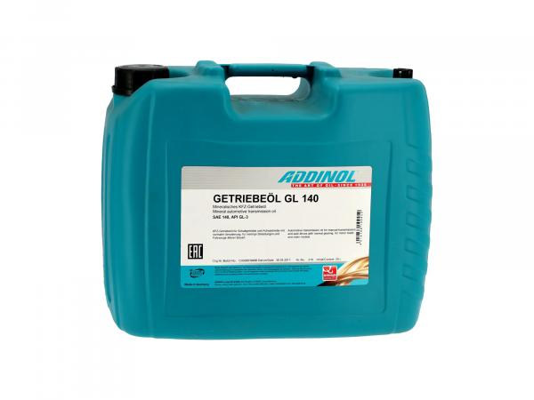 ADDINOL GL140, gear oil, (SAE class 140) semi-synthetic, 20 L canister.