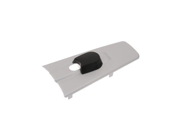Abdeckkappe für Zündlichtschalter, stumpfe Form, silber-matt eloxierte Oberfläche - für MZ ES