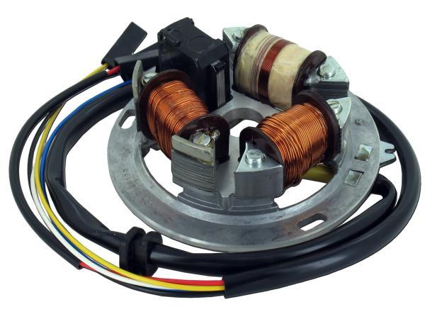 10001866 Grundplatte 8305.2/4-100, 12V Elektronik, 42/21W Bilux - für Simson S53 - Bild 1