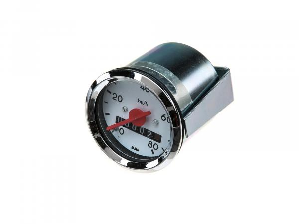 Speedometer Ø48mm up to 80 km/h - for Simson KR51 Schwalbe, SR4-1 Spatz, SR4-2 Star, SR4-3 Sperber, SR4-4 Habicht