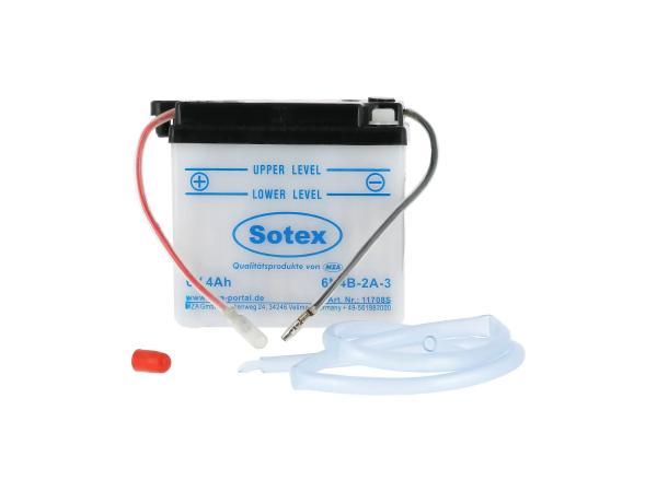 GP10068559 Batterie 6V 4Ah SOTEX (ohne Säure) - Simson KR51/1 Schwalbe, KR51/2 Schwalbe, SR4-1 Spatz, SR4-2 Star, SR4-3 Sperber, SR4-4 Habicht - Bild 1