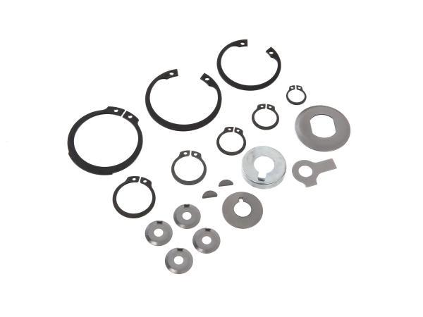 Set: Sicherungsteile für Motor M531-M743 - für Simson S51, KR51/2 Schwalbe, SR50, S53, S70, SR80, S83, MS50, DUO 4/2