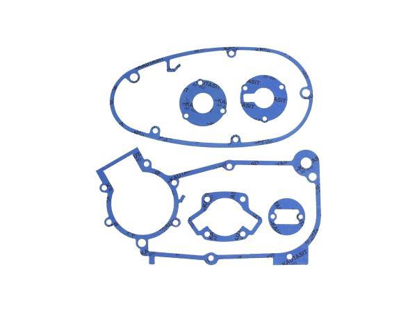10069353 Dichtungssatz aus Kautasit Motortyp M53, M53/1 - für Simson KR51/1 Schwalbe, SR4-1 Spatz, SR4-2 Star, SR4-3 Sperber, SR4-4 Habicht - Bild 1