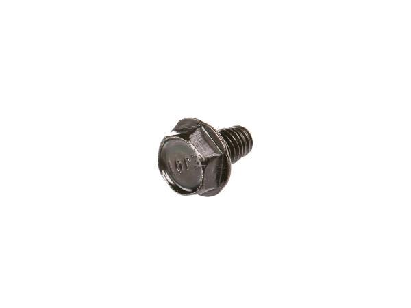 Gewindefurchende Schraube, Sechskant-Flanschkopf, Schwarz glänzend M6x10 - DIN7500