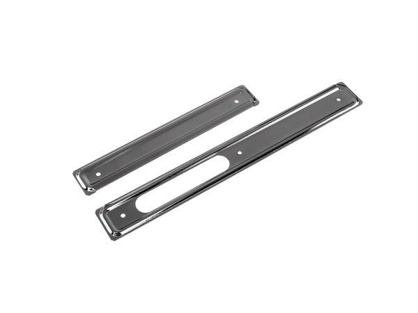 Set: Scheuerleisten rechts + links, Stahl verchromt - Simson KR51 Schwalbe