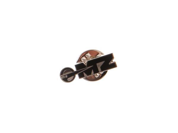 Ansteck-Pin MZ Logo in Schwarz/Silber