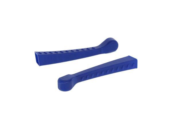 10070477 Set: 2x Handhebel-Hülle 3D, Blau, Sport-Optik - für Simson S50, KR51/1 Schwalbe, SR4-2 - Bild 1