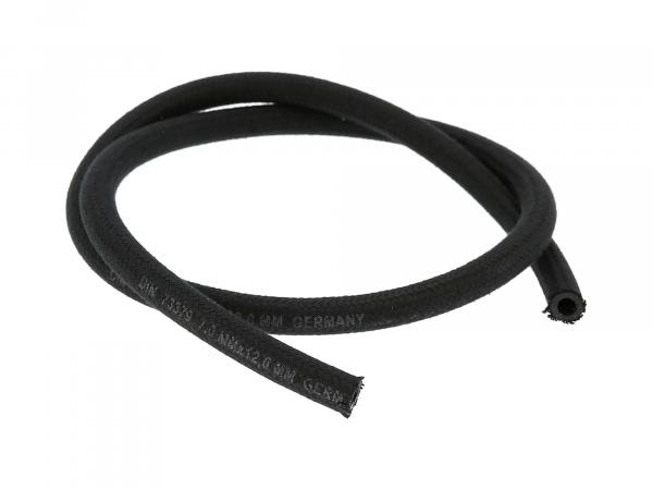 Fuel hose NAFTREX B, textile braided, black, 1 meter, Ø 7x12mm