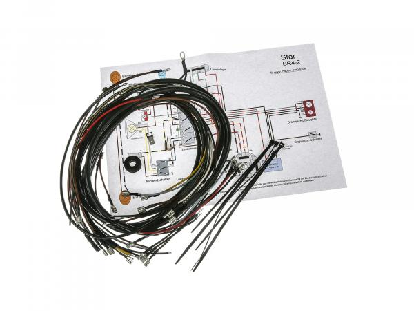 Wiring harness set Star SR4-2, 6V interrupter ignition with wiring diagram