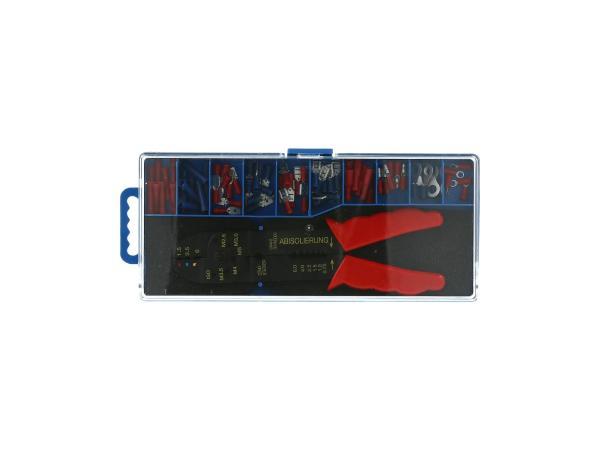 10013395 Set: Kabelschuhe isoliert + Quetschzange, 71-teilig - Bild 1