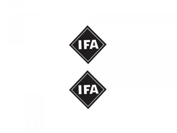 "Set: adhesive writing ""IFA"" - 2 parts"