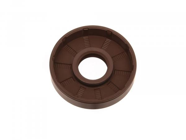 Oil seal 17x47x10, brown, dust lip