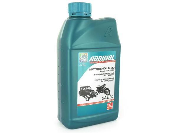 10038775 ADDINOL M30 Oldtimer - Motorenöl, mineralisch - 1l - Bild 1