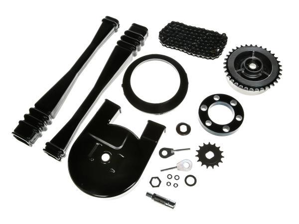 10044055 Großes Kettenradantrieb-Set (Ketten-Set) - Simson S51, S70, S53, S83 - Bild 1
