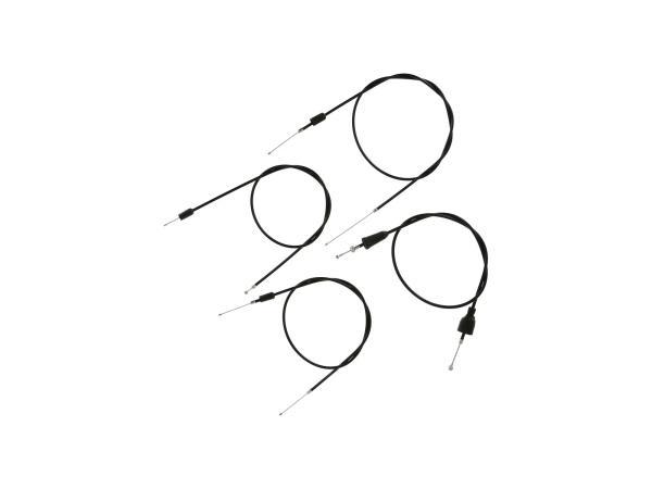 10069819 Set: 4 Bowdenzüge schwarz, Scheibenbremse, Öldosierung - MZ ETZ 251, 301 - Bild 1