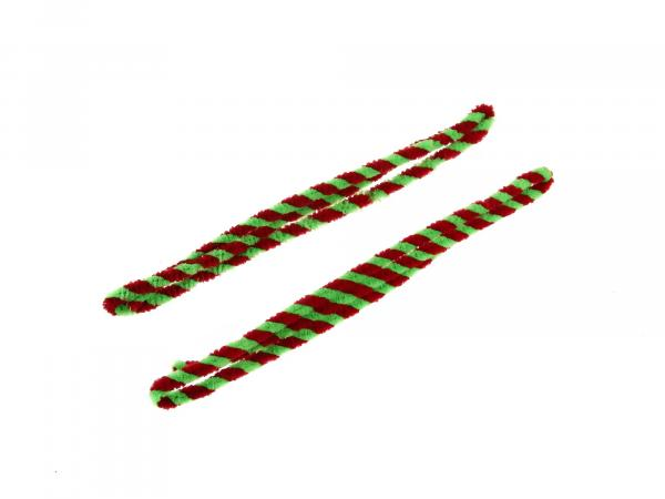 Hub cleaning rings red/light green (set 2x 76cm for motorcycle)
