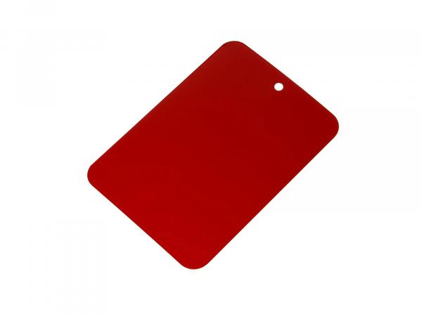 Colour samples painted on sheet metal, Leifalit, red,