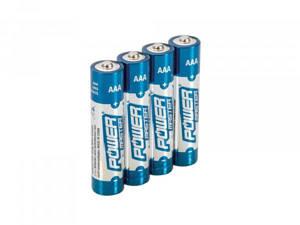 Set: 4x AAA Power Master Alkali-Batterien, 1,5Volt