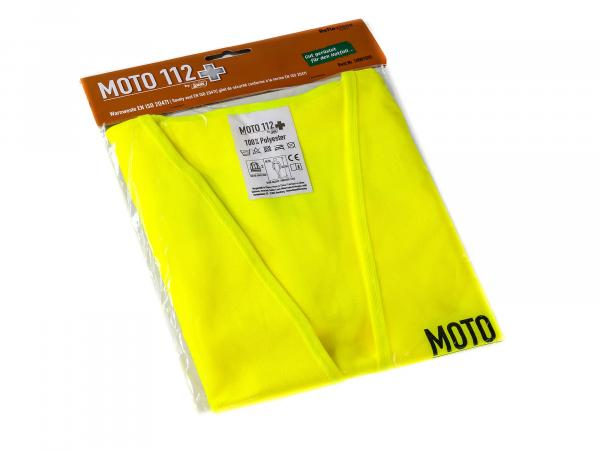 "Warning vest ""MOTO 112"" neon yellow"
