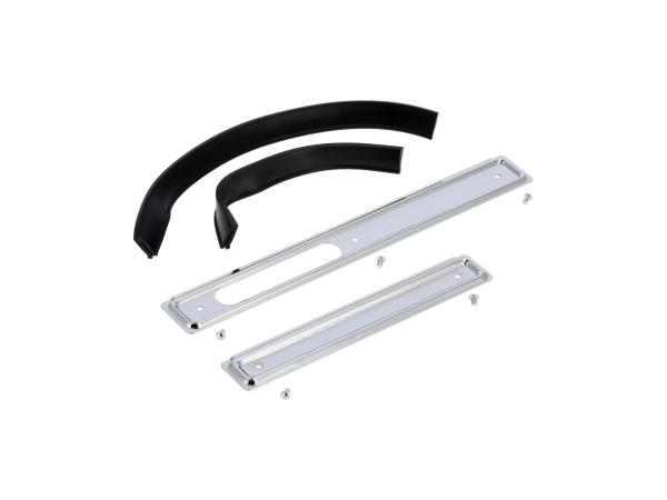 10066180 Set: Scheuerleisten rechts + links, Aluminium mit Keder und Nieten - für Simson KR51 Schwalbe - Bild 1