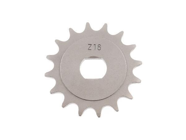10000485 Ritzel, kleines Kettenrad, 16 Zahn - für Simson S51, S70, S53, S83, KR51/2 Schwalbe, SR50, SR80 - Bild 1