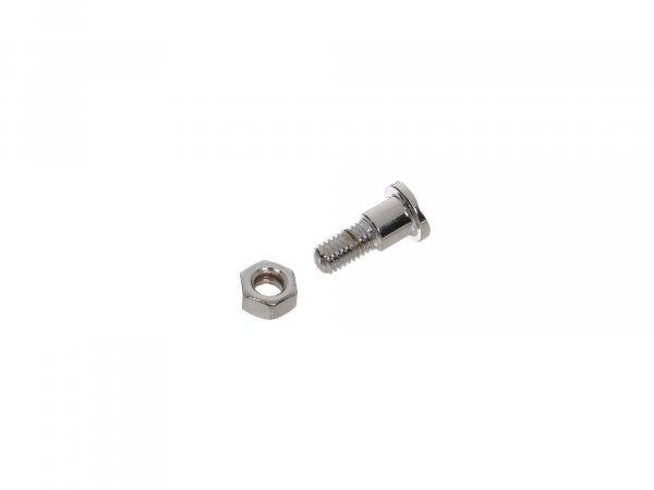 Fixing screw cylindrical stainless steel polished - for MZ BK30, RT125 - IWL SR56 Wiesel, SR59 Berlin, TR150 Troll