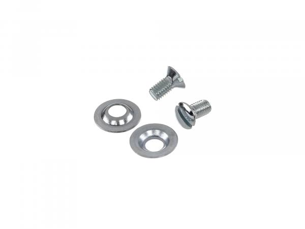 Set: raised countersunk screws handlebar cover KR51 Schwalbe, SR4-2 Star, SR4-3 Sperber, SR4-4 Habicht