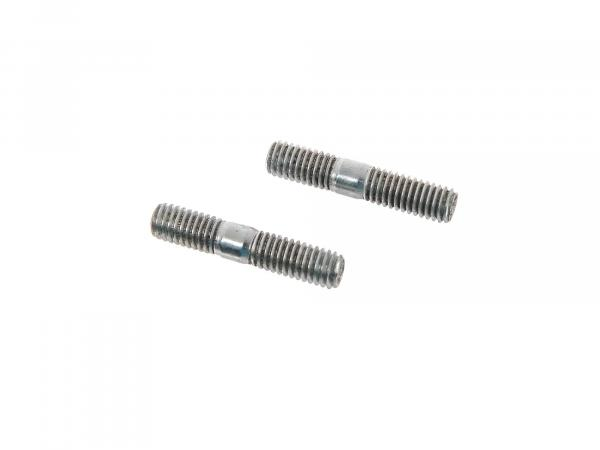 Set: 2x stud screw M6x18 (total 30mm) - DIN835