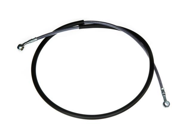 Set Bremsschlauch, Bremsleitung, mit Stahlgewebe verstärkt, vorn - Länge ca. 135cm - mit 1x Hohlschraube und 2x Dichtscheiben
