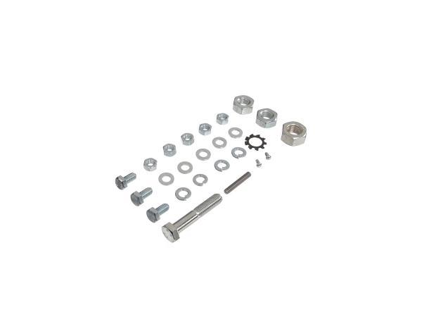 Set: Sechskantschrauben, Normteile für Rahmen-Hinterradschwinge-Kippständer-Fußbremse Schwalbe KR51/1