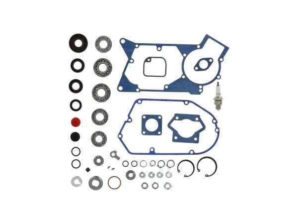 10069763 Set: Motorregenerierung mit Kautasit Dichtungen - für Simson S51, S70, S53, S83, KR51/2 Schwalbe, SR50, SR80, MS50, DUO 4/2 - Bild 1
