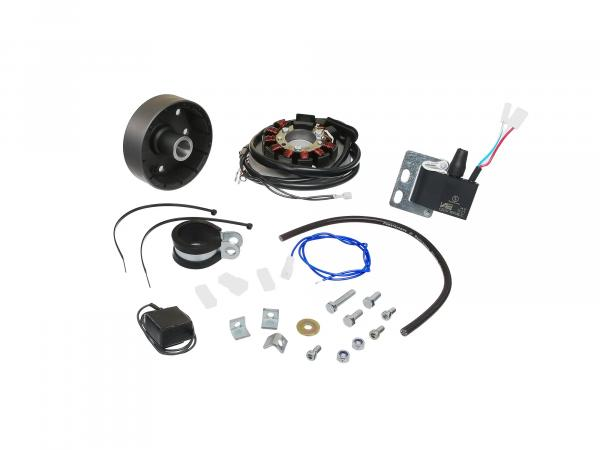 Magnet light ignition system with integrated fully electronic ignition, 12V 80W for MZ models GE250, ETS-G250 - off-road sports