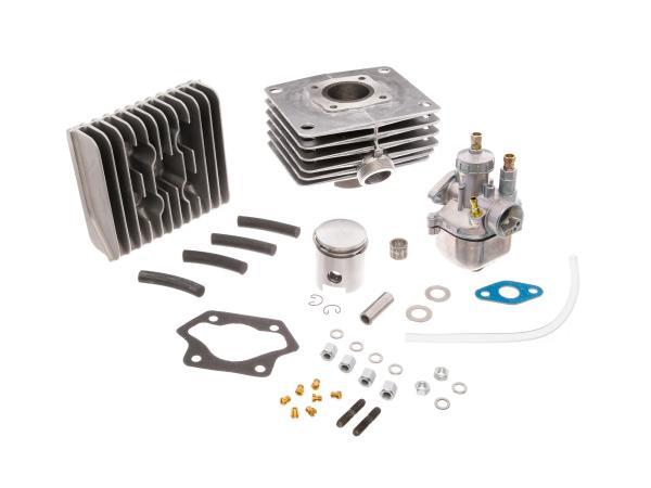 Set: Tuningzylinder 4-Kanal + Kolben + Kopf + Vergaser, 60ccm - für Simson S51, SR50