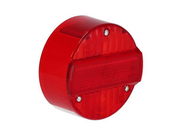 Rücklichtkappe rund, rot, Ø120mm mit KZB - Simson S50, S51, S70, S53, S83, KR51/2 Schwalbe, SR50, SR80