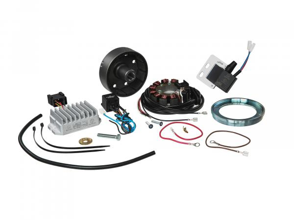 Magnet light ignition system 12V 100W with integrated fully electronic ignition for MZ RT125