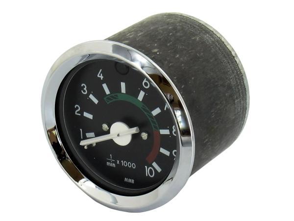 10054815 Drehzahlmesser ø60mm mit Chromring und Fernlichtkontrolle - Bild 1