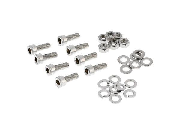 10001240 Set: Zylinderschrauben, Innensechskant in Edelstahl für Blink-und Rückleuchten SR50, SR80 - Bild 1